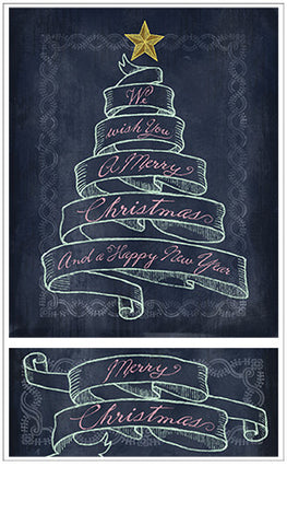 Chalk Talk Merry Christmas Banner