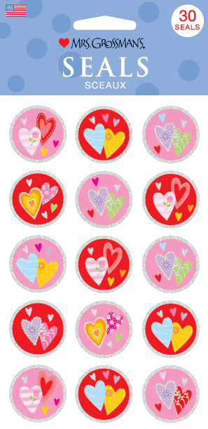 Heart Seals, sticker, Mrs. Grossman's stickers
