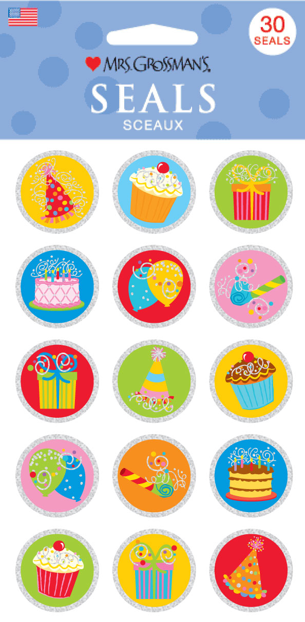 Bithday Seals Stickers - Mrs. Grossman's