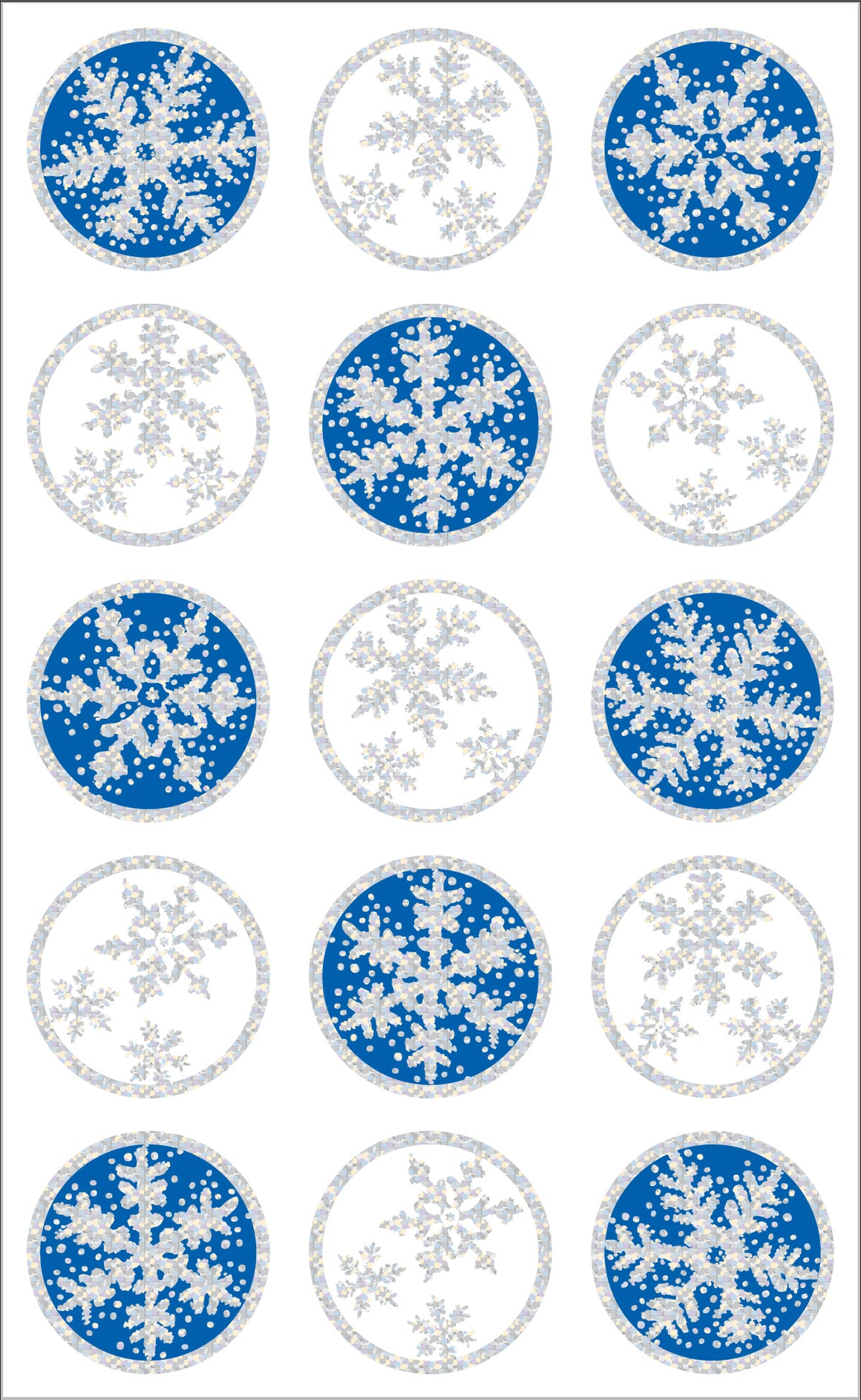 Snowflake Seals Stickers