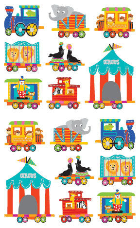 Circus Train, sticker, Mrs. Grossman's Stickers