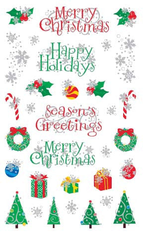 Christmas Holiday, Reflections Stickers - Mrs. Grossman's