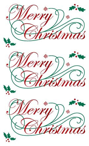 Christmas Stickers.Merry Christmas Stickers