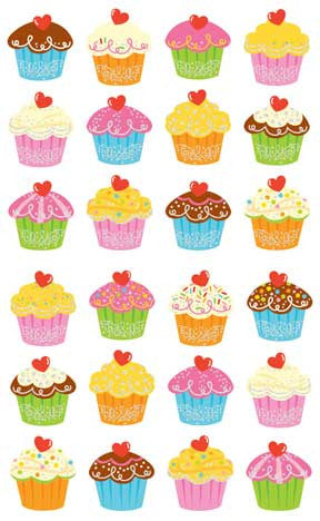 Cupcake Bonanza, Reflections Stickers - Mrs. Grossman's