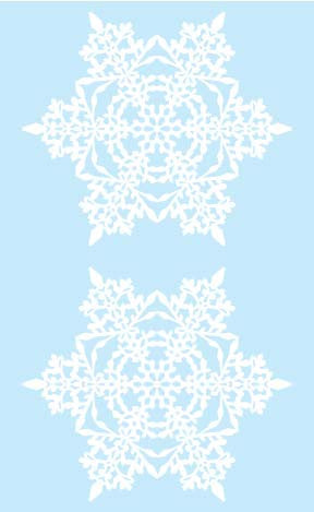 Snowflake, stickers, Mrs. Grossman's Sticker Factory