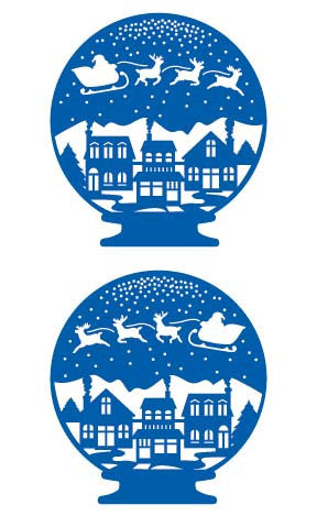 Christmas Snow Globe, sticker, Mrs. Grossman's Stickers