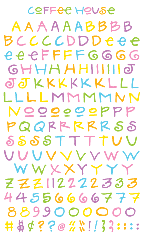 alphabet, Stickers, Mrs. Grossman's Stickers