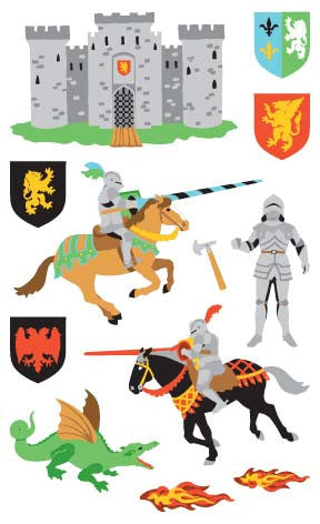 Knights Stickers - Mrs. Grossman's