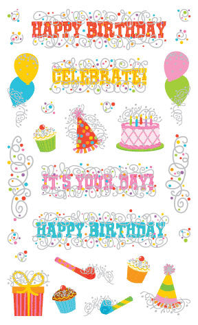 Birthday Party, sticker, Mrs. Grossman's Stickers
