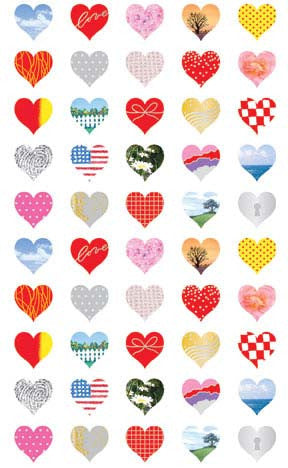 25th Anniversary Hearts, sticker, Mrs. Grossman's Stickers