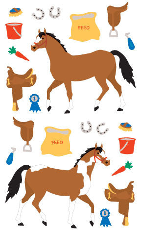Horse Tack Stickers, Available here, at Mrs. Grossman's online sticker shop!