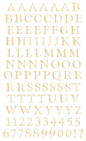 Classic Alphabet, Gold, Reflections Stickers - Mrs. Grossman's