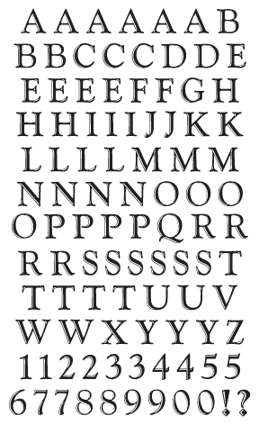 Classic Alphabet, black Stickers - Mrs. Grossman's