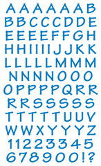 Casual Alphabet, blue