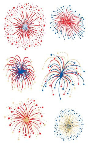 Fireworks, Reflections Stickers - Mrs. Grossman's