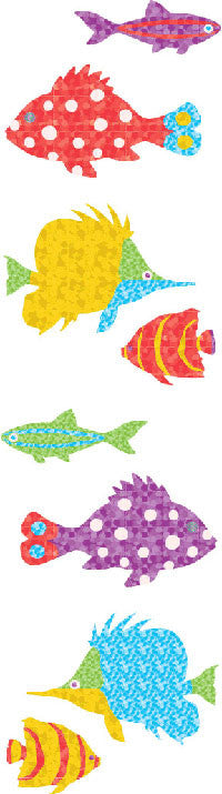 Fish, sticker, Mrs. Grossman's Stickers