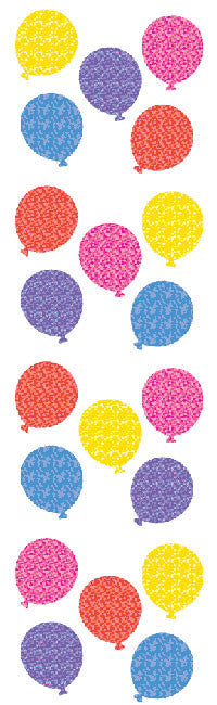 Balloons, sm, Sparkle Stickers - Mrs. Grossman's