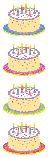 Birthday Cake-Sparkle Stickers - Mrs. Grossman's