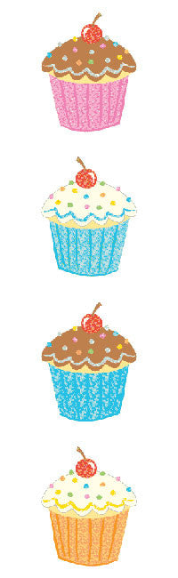 Delightful Cupcake, Sparkle Stickers - Mrs. Grossman's
