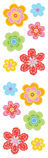 Delightful Flowers, sticker, Mrs. Grossman's Stickers