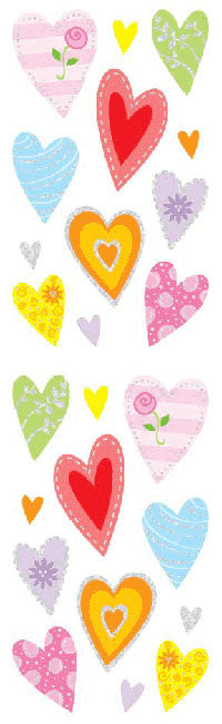 Delightful Hearts, sticker, Mrs. Grossman's Stickers