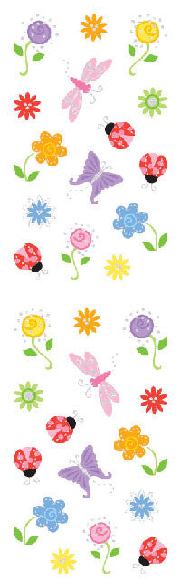 Flowers, petite, sticker, Mrs. Grossman's stickers
