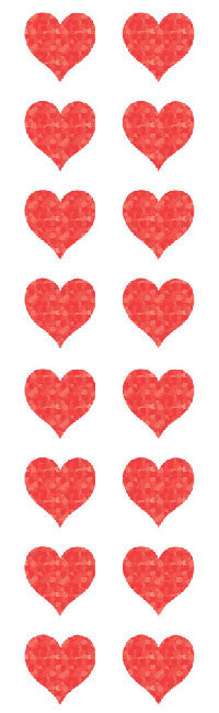Hearts, Red sm, sparkle, sticker, Mrs. Grossman's stickers