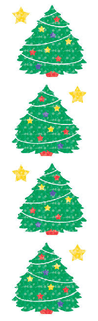 Christmas Tree, Sparkle Stickers - Mrs. Grossman's
