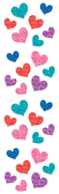 Jewel Hearts, Sparkle Stickers - Mrs. Grossman's