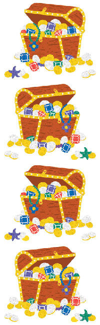 Treasure Chest, stickers, Mrs. Grossman's Sticker Factory