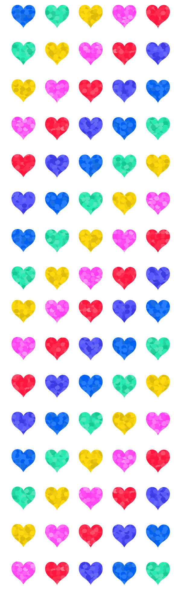 Multi Micro Hearts Stickers, Sparkle - Mrs. Grossman's
