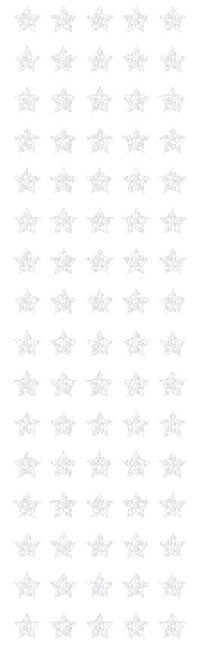 Stars, silver micro, sparkle Stickers - Mrs. Grossman's