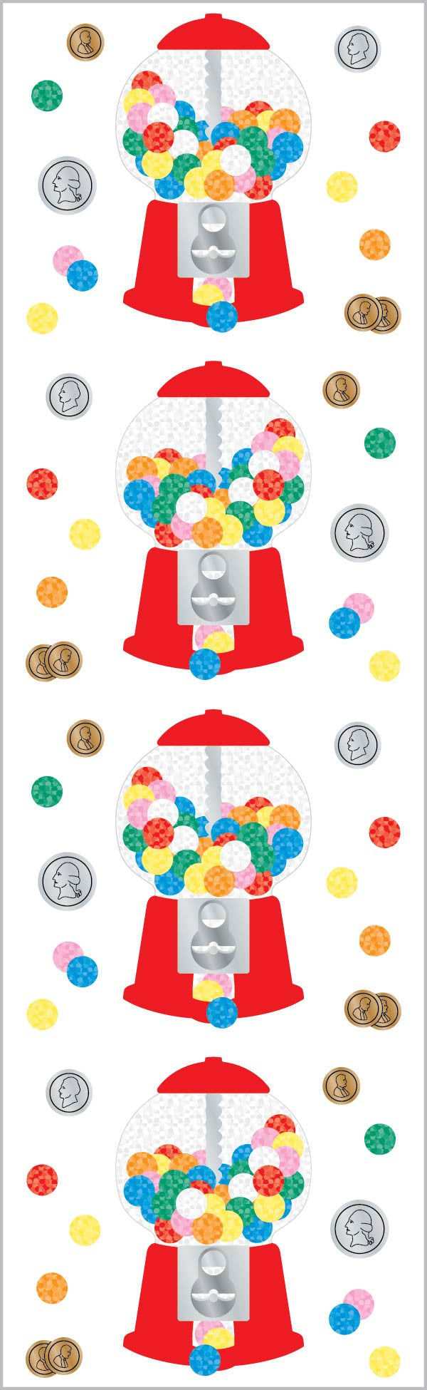 Gumball Machine Stickers - Mrs. Grossman's
