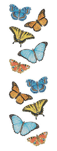 Butterflies Sparkle, sticker, Mrs. Grossman's Stickers