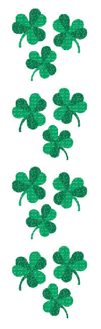 Shamrocks, sparkle, stickers, Mrs. Grossman's Sticker Factory