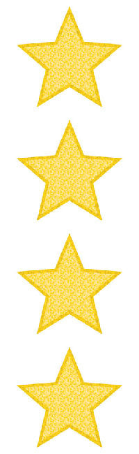 Large Star, gold, sparkle Stickers - Mrs. Grossman's