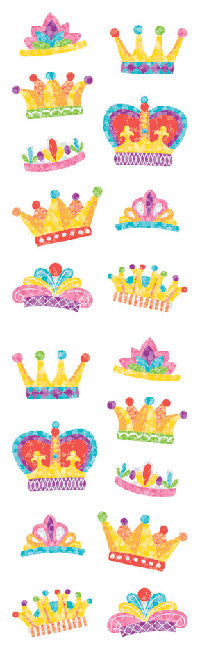 Crowns , sticker, Mrs. Grossman's Stickers