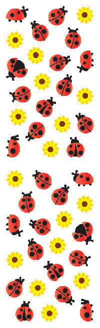 Ladybugs & Flowers, Reflections Stickers - Mrs. Grossman's
