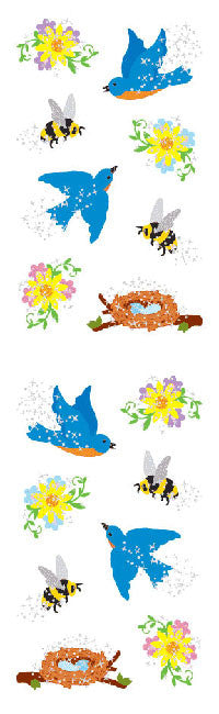 Birds & Bees, sticker, Mrs. Grossman's Stickers