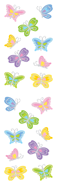Butterflies, sticker, Mrs. Grossman's Stickers