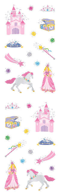 Princess, petite, stickers, Mrs. Grossman's Sticker Factory