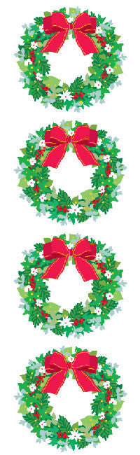 Winter Wreath, sticker, Mrs. Grossman's Stickers