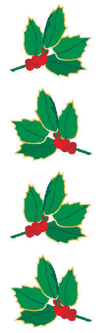 Holly stickers, Available here, at Mrs. Grossman's online sticker shop!