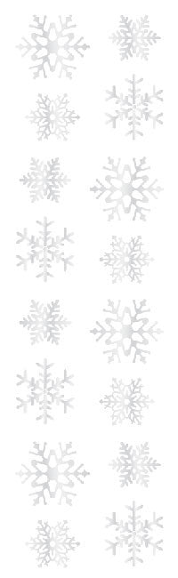 Snowflakes, stickers, Mrs. Grossman's Sticker Factory