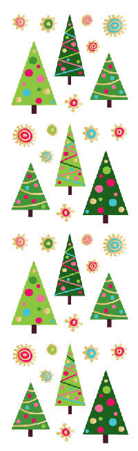 Fun Christmas Trees, sticker, Mrs. Grossman's Stickers