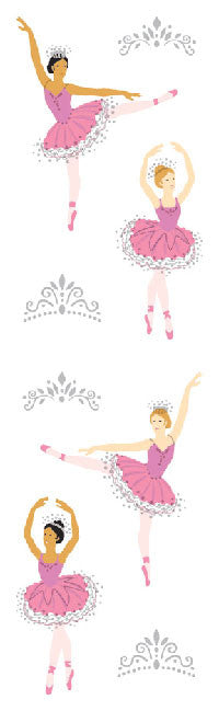 Ballerinas, sticker, Mrs. Grossman's Stickers