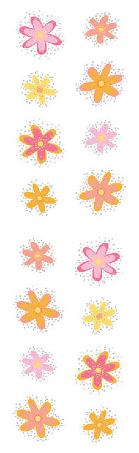 Twinkle Flowers, stickers, Mrs. Grossman's Sticker Factory