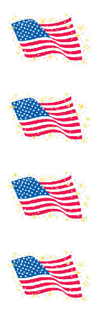 American Flag, sticker, Mrs. Grossman's stickers