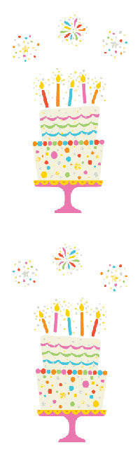Magical Birthday Cake, stickers, Mrs. Grossman's Sticker Factory