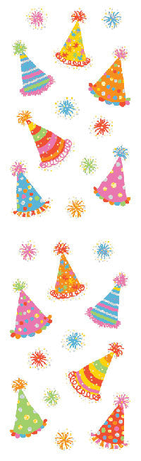 Magical Party Hats, stickers, Mrs. Grossman's Sticker Factory